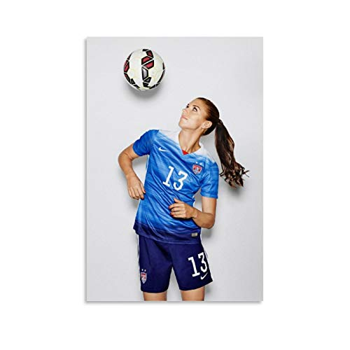 TJHX United States Alex Morgan Poster Decorative Painting Canvas Wall Art Living Room Posters Bedroom Painting 16x24inch(40x60cm)