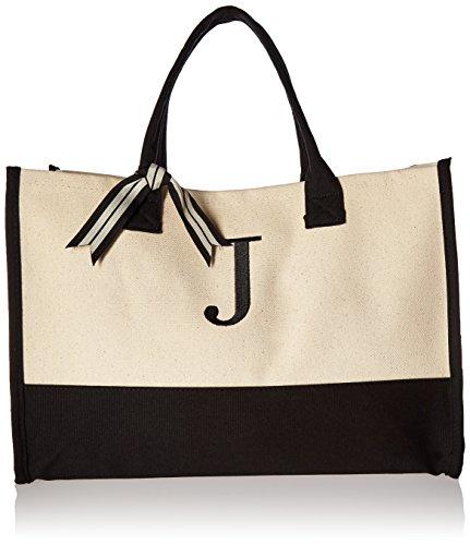 Mud Pie Initial Canvas Tote Bags (J)