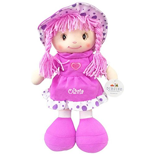 Personalized Sweetheart Cuddle Doll - 14 Inch (Purple)