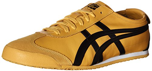 Onitsuka Tiger Unisex Mexico 66 Shoes, 6W, Yellow/Black