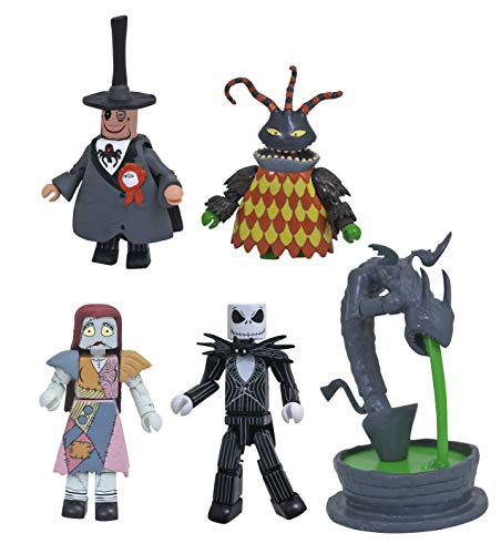 DIAMOND SELECT TOYS MAY182296 Select Toys The Nightmare Before Christmas: Town Square Minimates Box Set, Multicolor