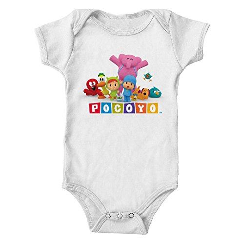 Pocoyo - Pocoyo Nina and Friends Infant One-Piece Bodysuit (White, 18M)