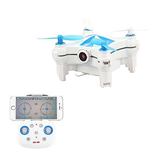 Cheerson CX-OF 2.7' WIFI RC FPV Drone Real-time Video with 0.3MP Camera Optical Flow Sensor Dance Quadcopter 2.4GH 4CH 6 Axis iOS/Android APP Blue