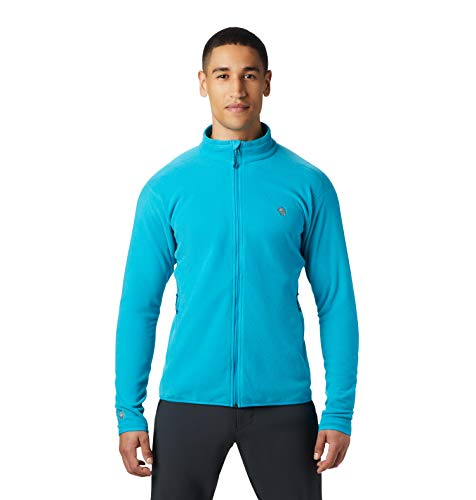 Mountain Hardwear Macrochill Full Zip Men's Classic Fleece Jacket for Hiking, Backpacking, Climbing, and Everyday - Traverse - Large