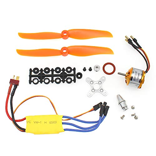 S-Union New Replacement 30A ESC + RC 2200KV A2212/6T Brushless Motor Used for RC Plane Helicopter (with Macroporous Pulp and Holes Pulp)