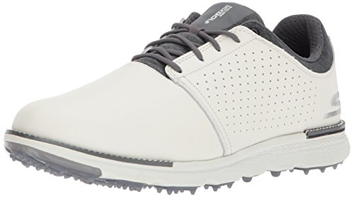 Skechers mens Elite 3 Approach Golf Shoe, Natural/Gray, 8.5 US
