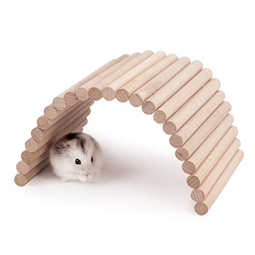 Niteangel Hamster Climbing Ladder Wooden Suspension Bridge for Guinea Pigs Rats Hedgehog Gerbils Mouse Sugar Glider and Other Small Animals (Small)