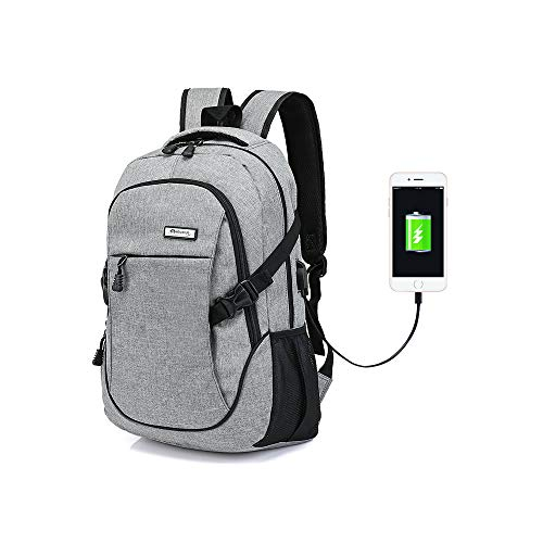 Laptop Backpack,  Waterproof Travel Bag with USB Charging Port ,15.6 Inch Computer Business Backpacks for Women Men College School Student,Bookbag Casual Hiking Daypack