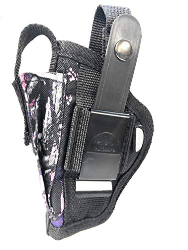 Pro-Tech Outdoors Muddy Girl Belt and Clip on Holster, is for Right or Left Hand Use. Fits Ruger LCP 380 auto with Laser