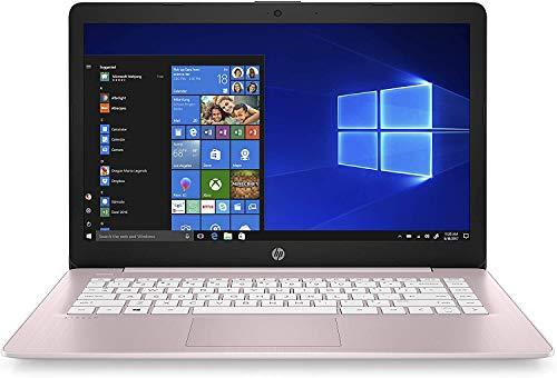 HP Stream 14inch HD(1366x768) Display, Intel Celeron N4000 Dual-Core Processor, 4GB RAM, 32GB eMMC, HDMI, WiFi, Webcam, Bluetooth, Win10 S, Rose Pink (Renewed)