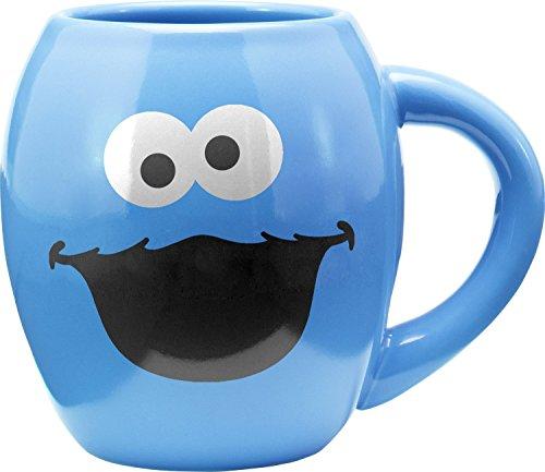 Vandor Sesame Street Cookie Monster 18 Oz. Oval Mug (32362)