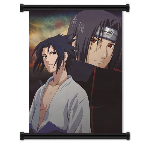 Poster Naruto Shippuden Sasuke and Itachi Uchiha Anime Wall Scroll (32 x 42) Inches