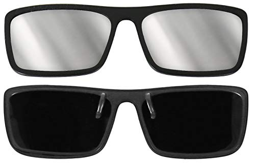 Plastic Eclipse Glasses - Clip-on Frame - With 2 Bonus Pair of our Paper Eclipse Glasses! CE and ISO Certified - Made in USA
