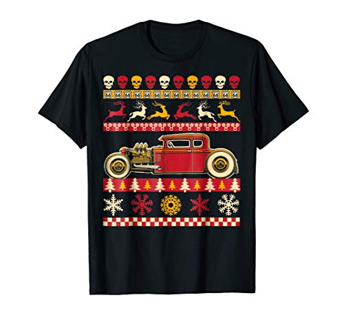 Rat Rod Ugly Christmas Sweater Party Shirt for car lovers