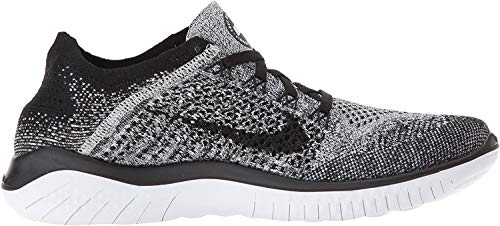 Nike Women's Free RN Flyknit 2018 White Black 942839-101 (5 B US)