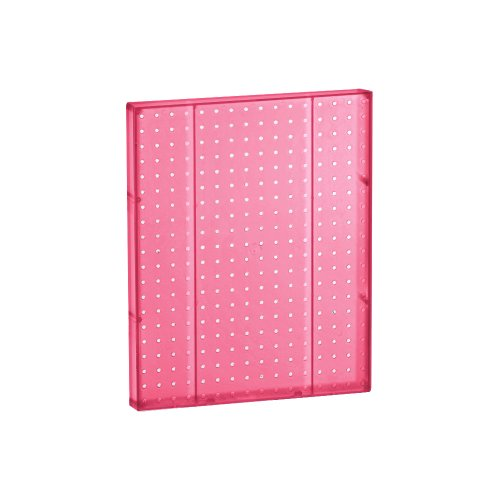 Azar 771620-PNK Pegboard 1-Sided Wall Panel, Pink Translucent Color, 2-Pack