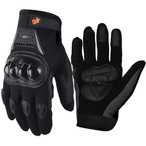 Street Bike Full Finger Motorcycle Gloves 09 (XL, black)