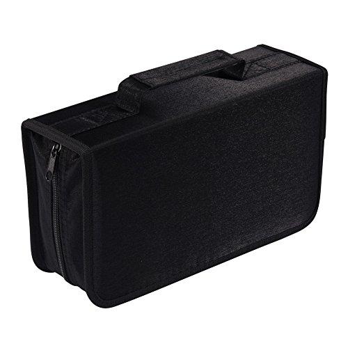 128 Capacity CD/DVD case Wallet, Storage,Holder,Booklet by Rekukos(Black)