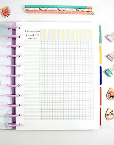Classroom Checklist Refills for 11-Disc Big Happy Planner, Big Teacher Planner Inserts