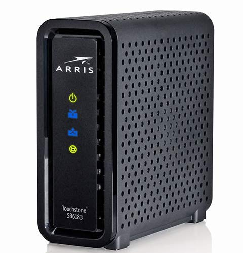 ARRlS Touchstone SB6183 Cable Modem Docsis 3.0 Compatible with XFINITY, Spectrum, Charter, Time Warner, Brighthouse, Cox and More (Renewed)