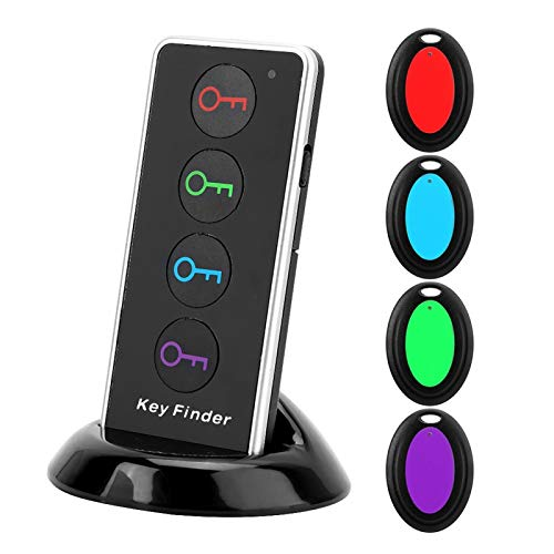 EVTSCAN Wireless Key RF Locator Item Anti-Lost Tag Alarm Reminder Tracker Remote Finder,Phone Pets Keychain Wallet Luggage