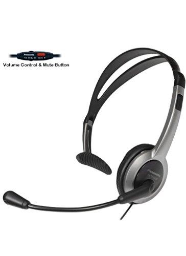 Panasonic Hands-Free Foldable Headset with Volume Control & Mute Switch for Panasonic KX-TG6071B, KX-TG6072B, KX-TG6073B, KX-TG6074B 5.8 GHz Digital Cordless Phone Answering System