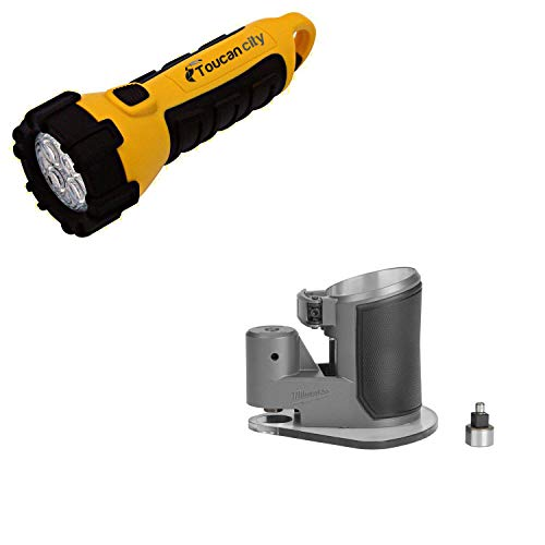 Toucan City LED Flashlight and Milwaukee Compact Router Offset Base 48-10-5602