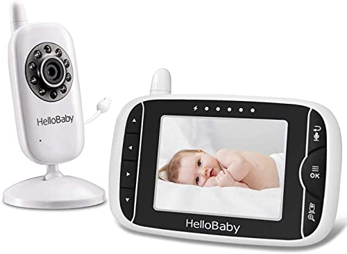 Video Baby Monitor with Camera and Audio   Keep Babies Nursery with Night Vision, Talk Back, Room Temperature, Lullabies, 960ft Range and Long Battery Life
