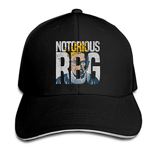 Adult Ruth Bader Ginsberg Notorious RBG Sandwich Cap Black