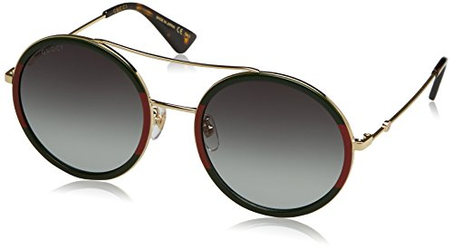 Gucci GG0061S 003 Green/Red/Gold GG0061S Round Sunglasses Lens Category 3 S