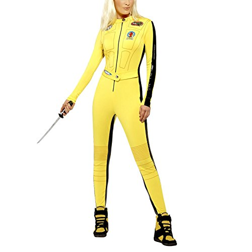 Kill Bill Women's Costume Wo Jumpsuit Bust Waist Small (UK 8-10) Yellow