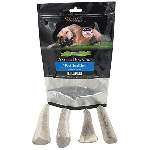 Deluxe Naturals Split Elk Antler Dog Chew, Small, 4-Pack