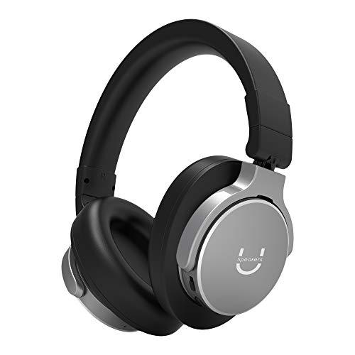 U Evolve Active Noise Cancelling Headphones Wireless Over Ear Headphones with Microphone Bluetooth Headphones High-Fidelity Audio Deep Base 25 Hours Playtime, Comfortable Memory Foam Earpads