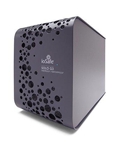 ioSafe Solo G3 4TB Fireproof & Waterproof External Hard Drive, Pewter Gray (SK4TB)