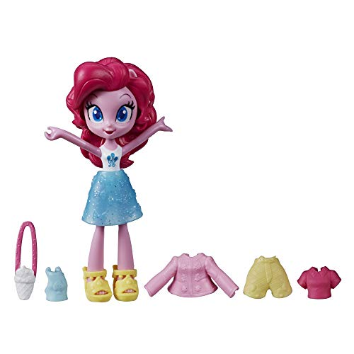 My Little Pony Equestria Girls Fashion Squad Pinkie Pie, 3-Inch Potion Mini Doll Toy with Outfit and Surprise Accessories for Kids 5 and Up