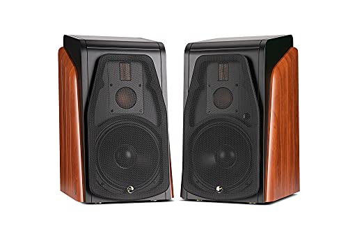 Swans Speakers M500 Hi-Fi Active Bookshelf Speaker, Living Room Speaker with 8 Inch Woofer, 3 Way Crossover, Solid Wood Enclosures, supporting bluetooth 5.0 apt-X HD/WiFI/WLAN/Coaxial/Optical/XLR/Line