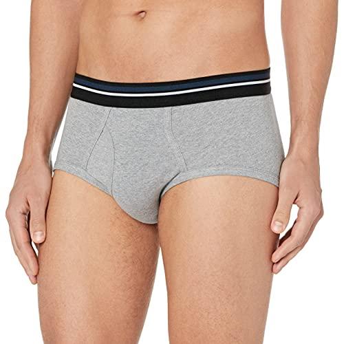 Amazon Essentials Men's 7-Pack Tag-Free Briefs, Black/Heather Grey, XX-Large