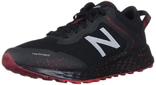 New Balance Men's Fresh Foam Arishi V1 Trail Running Shoe, Black/Team Red, 9.5 M US