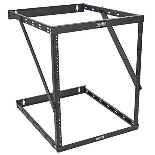 Tripp Lite 8U/12U/22U Expandable Wall-Mount 2-Post Open Frame Rack, Adjustable Network Equipment Rack, UPS Depth, 23.5' Deep (SRWO8U22DP)