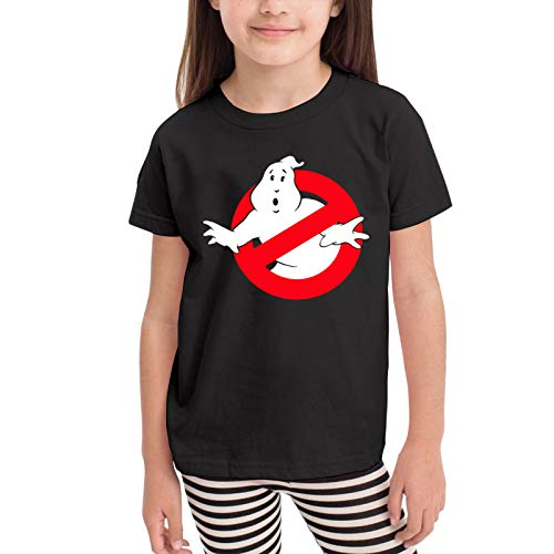 Ghostbusters Kids Anime Casual T-Shirt for 2-6 Years Old Fashion Short Sleeve Tee Top 5-6X Black