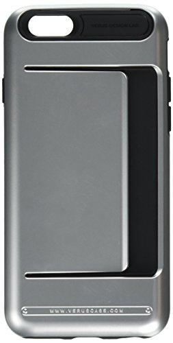iPhone 6S Case, Verus [Damda Clip][Satin Silver] - [Wallet Card Slot][Military Grade Protection] For Apple iPhone 6 6S 4.7