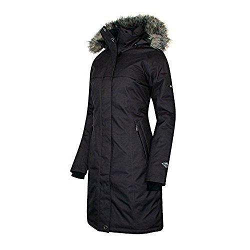 COLUMBIA Womens Flurry Run Down Long Omni Heat Jacket Coat Hooded Parka (S)