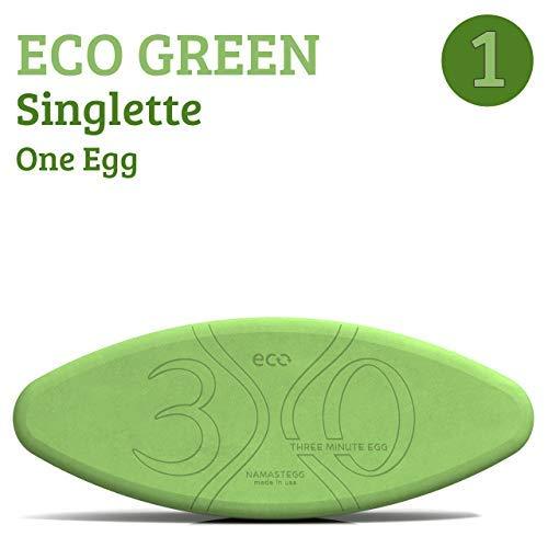 Three Minute Egg Yoga Block Travel Set - 2 Yoga Eggs - ECO Green - Made in USA