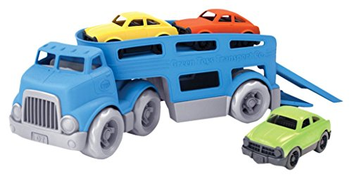 Green Toys Car Carrier, Blue - Pretend Play, Motor Skills, Kids Toy Vehicle. No BPA, phthalates, PVC. Dishwasher Safe, Recycled Plastic, Made in USA.