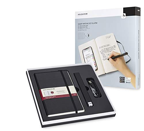 Moleskine Pen+ Ellipse Smart Writing Set Pen & Ruled Smart Notebook - Only Compatible with Moleskine Notes App for Digitally Storing Notes