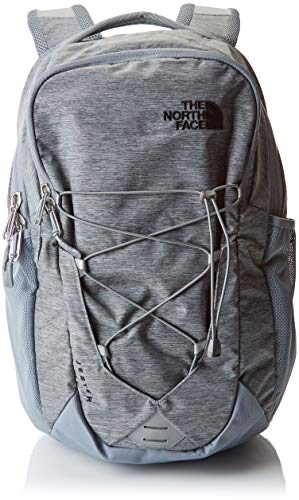 The North Face Jester Backpack, Mid Grey Dark Heather/TNF Black, One Size