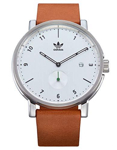 adidas Originals Watches District_LX2. Premium Horween Leather Strap 20mm Width (40mm) - Silver/Black/Tan