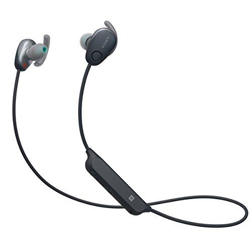 Sony SP600N Wireless Noise Canceling Sports In-Ear Headphones, Black (WI-SP600N/B)