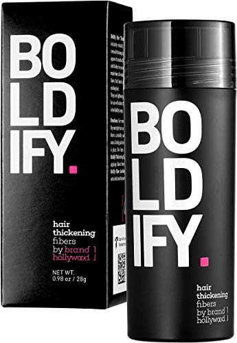 BOLDIFY Hair Fibers for Thinning Hair (DARK BROWN) Undetectable & Natural - Giant 28g Bottle - Completely Conceals Hair Loss in 15 Sec - Hair Thickener & Topper for Fine Hair for Women & Men​