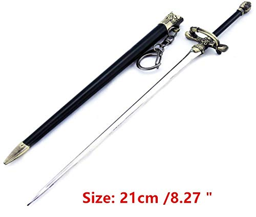 Game of Throne 1/6 Arya Stark Needle Sword 1/6 21cm /8.27 ' Metal Weapon Model Desk Shelf Decoration Art Figure Arts Toys Collection Keychain Gift Party Supplies